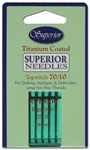 Superior Titanium Topstitch Needles - Size 70/10 5pk (132-70)