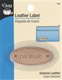 "Dritz Leather Label Oval - ""Handmade"""