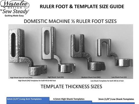 Westalee Ruler Foot StitchintheDitch Canada Gorgeous Ruler Foot For Brother Sewing Machine